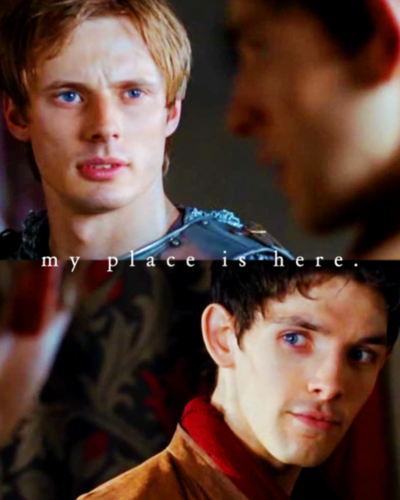 Arthur Pendragon wallpaper possibly with a portrait called Arthur & Merlin