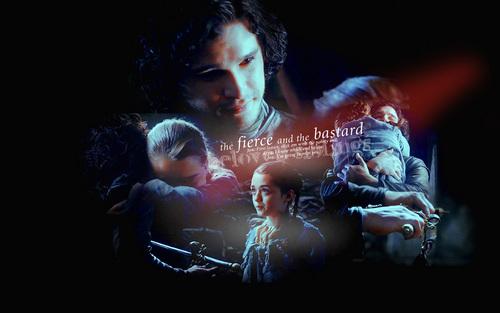 Jon Snow and Arya Stark wallpaper called Arya & Jon