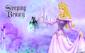 Aurora in purple - sleeping-beauty wallpaper