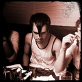 Brendon at dinner in Japan. #misfits - panic-at-the-disco photo