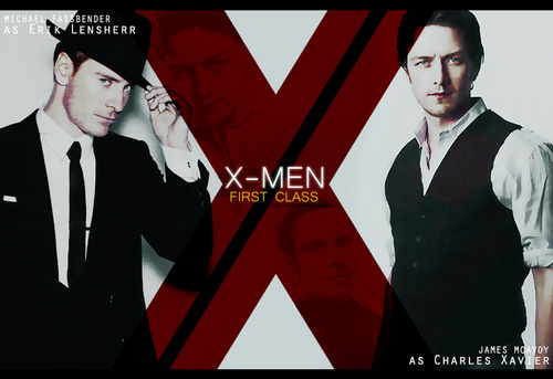 James McAvoy and Michael Fassbender wallpaper with a business suit, a suit, and a well dressed person titled Charles & Erik
