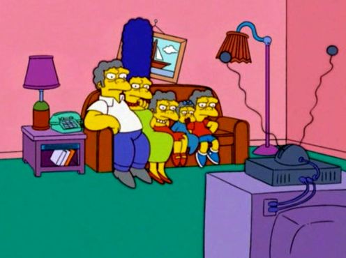 The Simpsons wallpaper containing anime titled Couch Gag: All Moes
