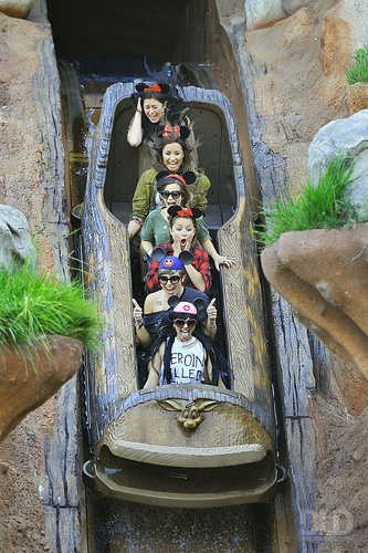 Demi - Having a fun siku at Disneyland in Anaheim, CA - August 21, 2011