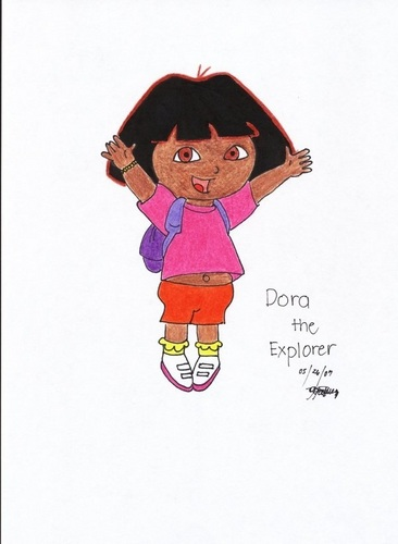 Dora's bellybutton revealed
