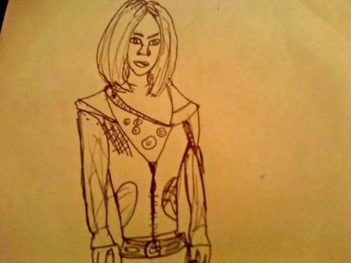 Drawing of Rose Tyler