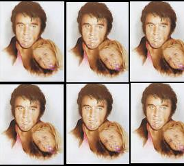 Elvis Aaron Presley and Lisa Marie Presley wallpaper possibly with a portrait titled Elvis & daughter