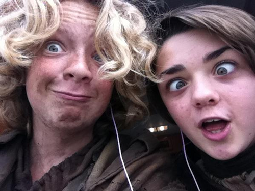 Eros Vlahos & Maisie Williams