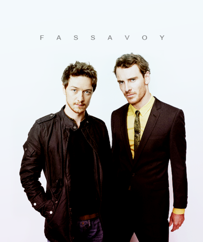 James McAvoy and Michael Fassbender वॉलपेपर with a business suit, a suit, and a well dressed person called Fassavoy