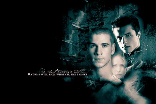Gale, Katniss and Peeta