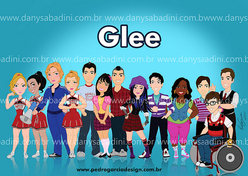 glee cartoon!