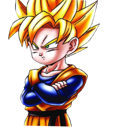Dragon Ball Z karatasi la kupamba ukuta possibly with anime titled Goten