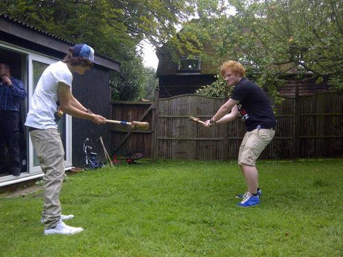 Harry Styles and Ed Sheeran.
