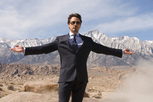 Iron Man The Movie wallpaper containing a business suit, a suit, and a well dressed person titled Iron Man!