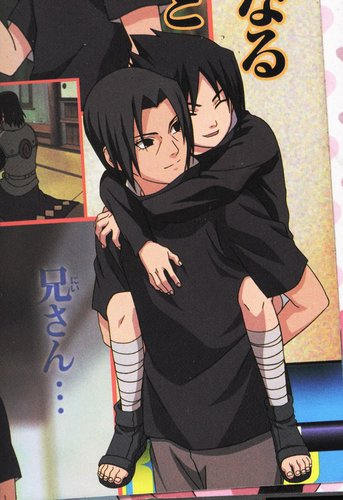 宇智波鼬 壁纸 possibly with 日本动漫 called Itachi and Sasuke