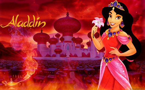 Aladdin wallpaper called Jasmine in flames