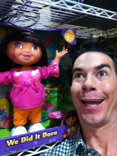 Jerry Trainor and Dora