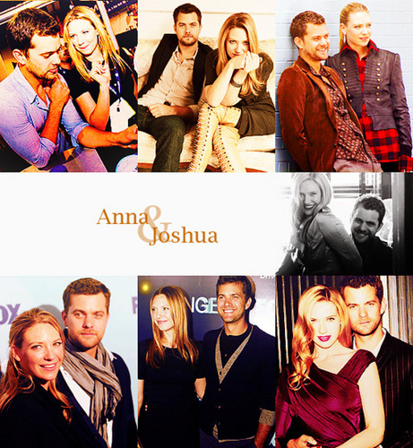 Anna Torv and Joshua Jackson achtergrond probably containing a business suit and a portrait called Josh & Anna <3