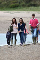 Kate and Pippa strolling in Llanddwyn Island of Newborough, North Wales (21 August 2011)