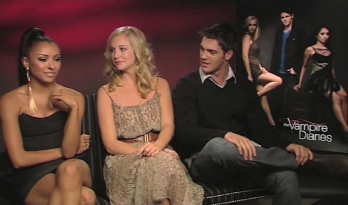 Katerina Graham, Candice Accola and Steven R McQueen talk ...