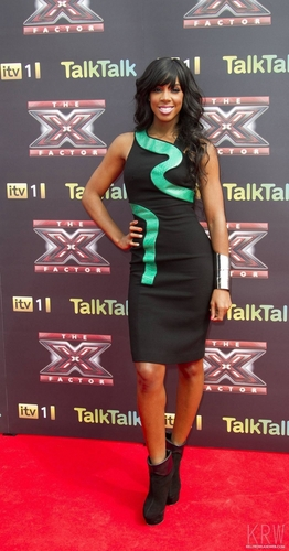 Kelly Rowland wallpaper possibly with a sign and a well dressed person entitled Kelly Rowland at the X Factor Press Launch
