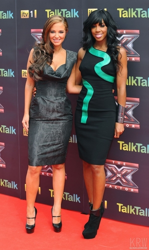 Kelly Rowland wallpaper possibly containing a sign called Kelly Rowland at the X Factor Press Launch