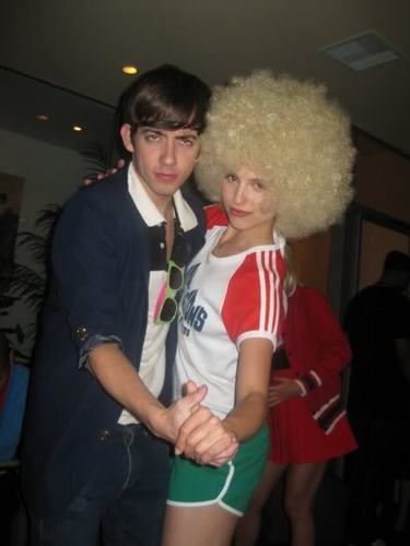 Kevin McHale and Dianna Agron