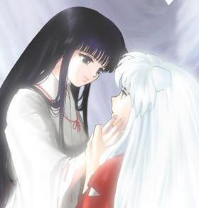 Kikyou and Inuyasha