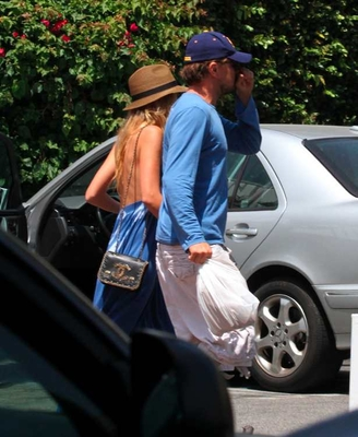 Leo and Blake shopping together at Fred Segal Santa Monica