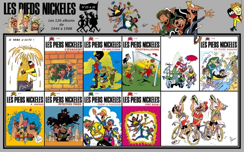 Les Pieds Nickelés albums from 25 to 36