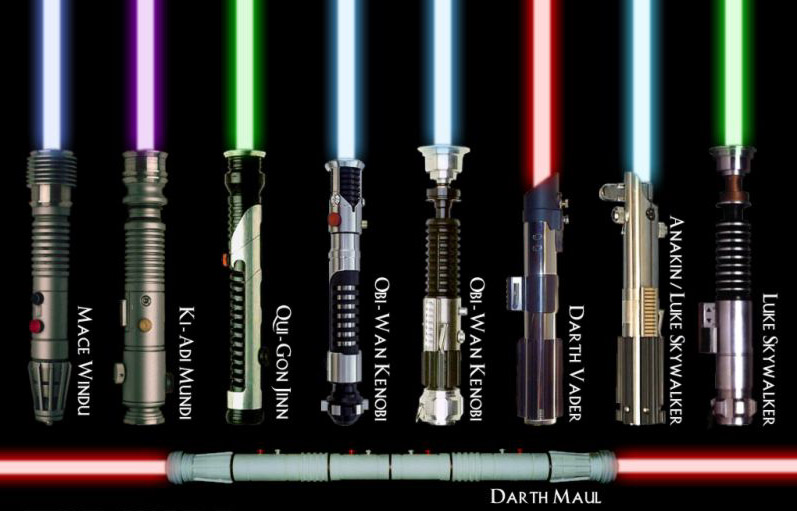 Star wars jedi lightsabers