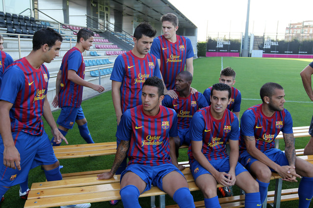 Making of the official team photo (2011-12)