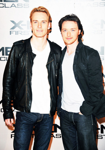 James McAvoy and Michael Fassbender वॉलपेपर with a business suit and a well dressed person titled McFassy is Real!