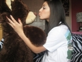 Me&Jakey(me kissing my bear)