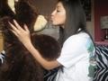 Me&Jakey(me kissing my bear)