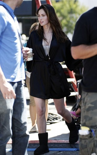 Megan fuchs on the set of 'This Is Forty' (August 23).