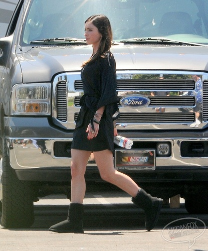 Megan - Heads to a location of This is Forty in Los Angeles, CA - August 22, 2011