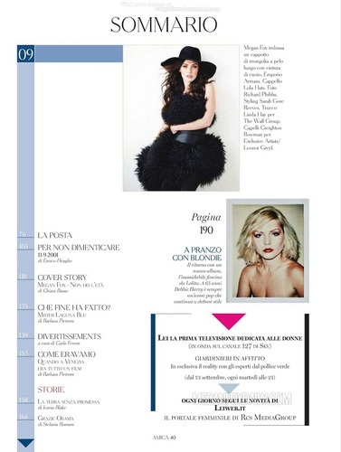 Megan - Magazine Scans - Amica Magazine (Italy) - September 2011