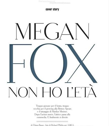 Megan - Magazine Scans - Amica Magazine (Italy) - September 2011