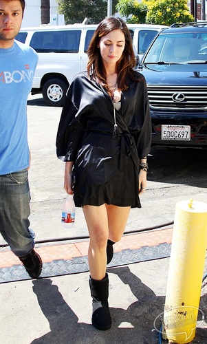 Megan - On location for This is Forty in Los Angeles, CA - August 23, 2011