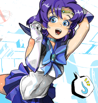 Sailor Mercury wallpaper containing anime called Mercury