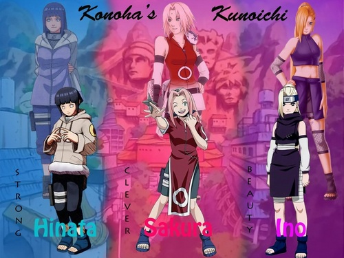 Naruto Girls - Before and After