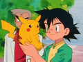 Pikachu and Ash - pikachu screencap