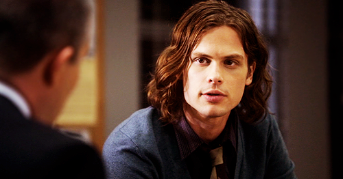 Dr. Spencer Reid Hintergrund probably with a business suit and a portrait titled Reid in season 5~