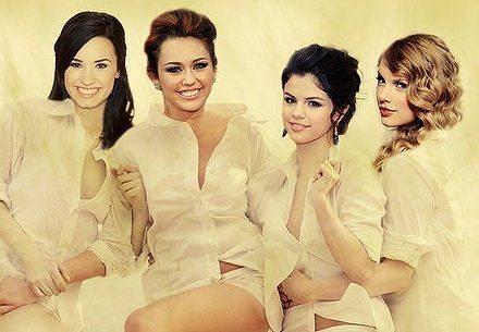 Selena&Demi&Miley&Taylor