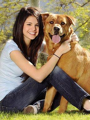 Selena and her dog
