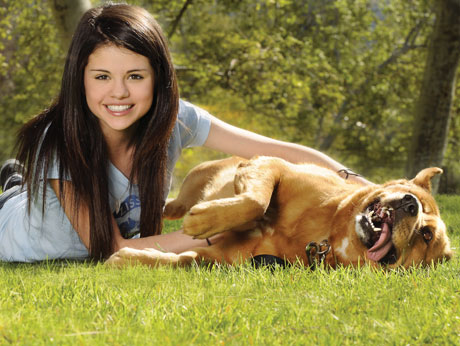 Selena and her dog
