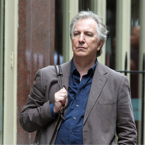 Alan Rickman wolpeyper with a business suit titled Sexy Alan
