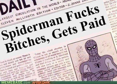 Spiderman Fucks Bitches, Gets Paid