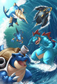 Starters  - legendary-pokemon fan art