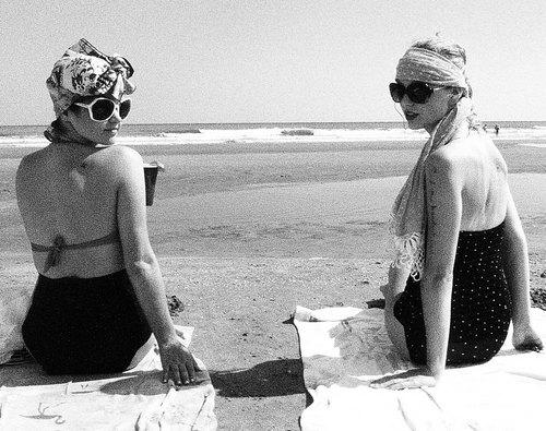 Taylor with her vrienden in Charleston